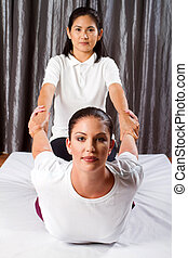 tailandés, masaje