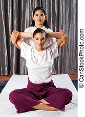 Thai massage stretch - professional Thai massage stretch