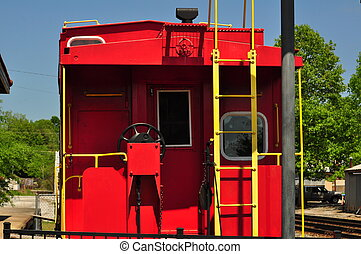 Rear of Caboose - Rear view of Caboose up close.