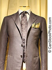 Elegant gray suit on a mannequin