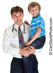 Doctor with smiling boy