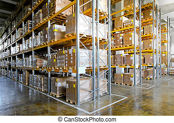 Storehouse shelves - Shelves and racks in distribution...
