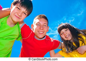 Smiling children - Children in colorful clothes