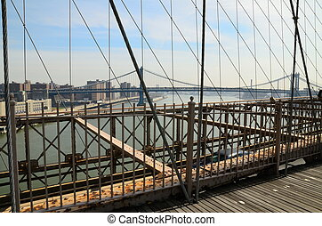 Manhattan Bridge from the Brooklyn Bridge