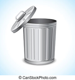 Trash Can - illustration of trash can on abstract background
