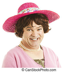 Humorous Tranvestite - Humorous portrait of a transvestite...