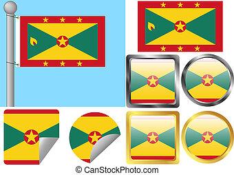 Flag Set Grenada