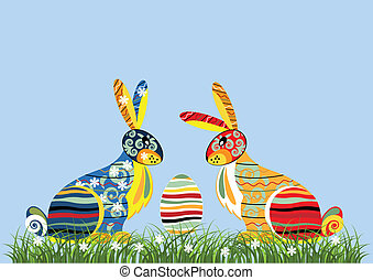 Decorative Easter rabbits
