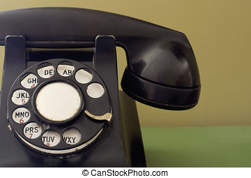 Ratty Black Vintage Telephone - This old phone, thought a...