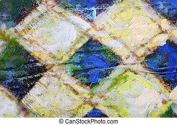 pintura, acrílico, quadrado, Padrão