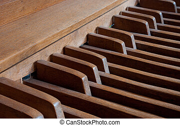 foot pedals - wooden foot pedals of a church organ