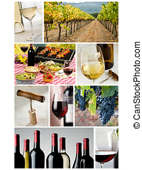 wine industry collage - 85 x11 collage made up of wine...