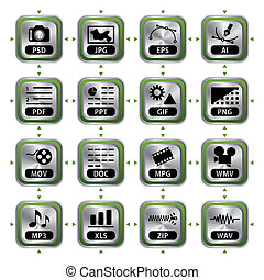 File icon set - Illustration vector