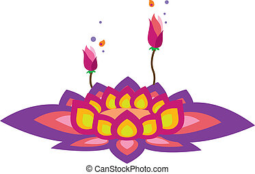 Vector Lotus - Stock Vector Illustration: Lotus Pattern