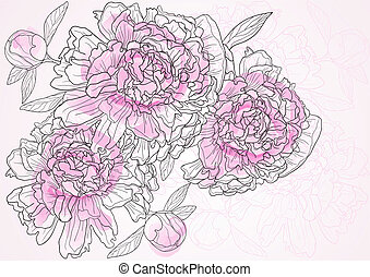 beautiful floral - Vector illustration of beautiful floral...