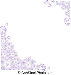 lilac angular frame - Vector illustration of lilac angular...