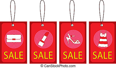 Sale Tag - Stock Vector Illustration: Retail sale price tags...