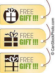 Free Gift Tag - Stock Vector Illustration: Free Gift Tag