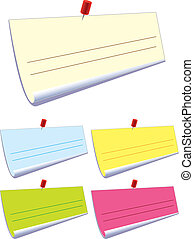 Note pad - Stock Vector Illustration: Note pad - blend and...