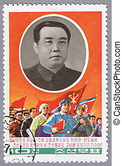 Kim Il Sung-the founder of the DPRK - NORTH KOREA - CIRCA...