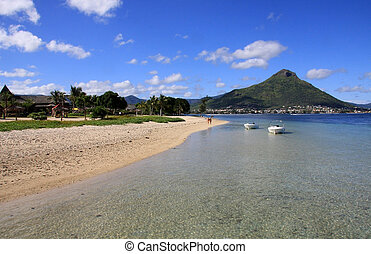 Beach in Mauritius - Beautiful tropical beach in Mauritius...