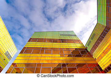 modern office building in Almere - colorful building of the...