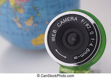 webcam - stock image of the web cam