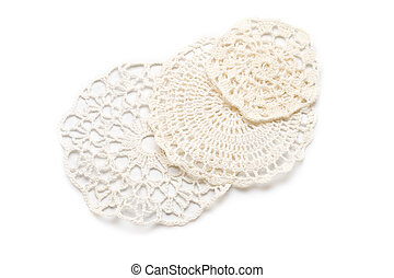 Crocheted lace isolated on white