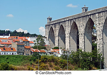 Portugal Lisbon story arch height of the landscape...