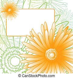 beautiful flowers - Spring invitational card with beautiful...