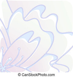 stylized flower - Vector illustration of stylized flower of...