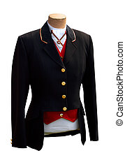 Black  Riding Jacket isolated with clipping path