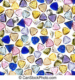 Seamless colorful gemstones background.