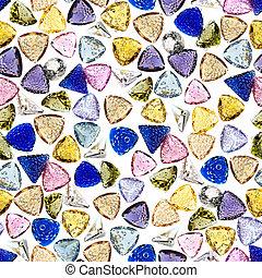 Seamless, colorido, piedras preciosas, Plano de fondo