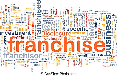 Franchise background concept - Background concept wordcloud...