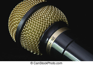 Microphone - A close up of a microphone used for speaking,...