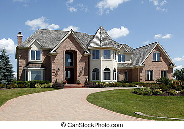 Large home with turret - Large home in suburbs with turret...