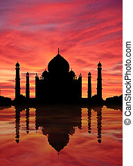 Taj Mahal sunset - Evocation of Taj Mahal, marvel of...