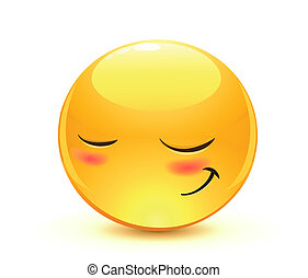 Emoticon - Vector illustration of cool glossy Single...