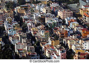Aerial view of a resiential district in a Spanish town