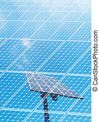 Solar energy concept with a photovoltaic panel
