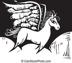 Pegasus - Mythical Grecian Pegasus the horse with wings