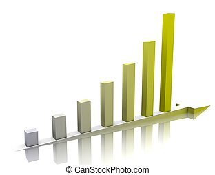 Week buisness graph - Yellow Week buisness graph is...