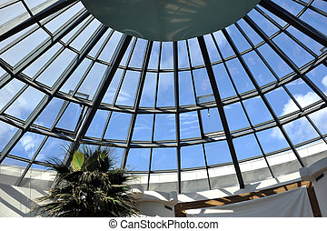glass roof - Modern glass roof of  building