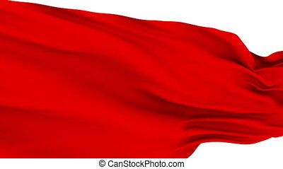 Red Cloth fluttering in the Wind. - Slow motion: Red Cloth...