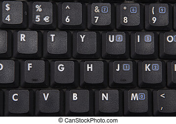 notebook keyboard close up - black notebook keyboard close...