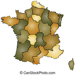 france administration map - administration map of france...