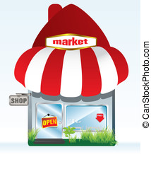 market icon - market-shop icon