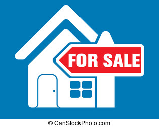 for sale house icon set and sign