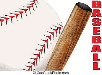 Baseball poster - Baseball ball and bat close up poster,...